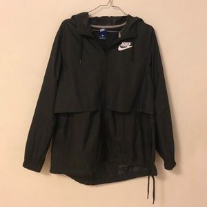 Nike Athletic Windbreaker Black Men's Medium